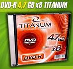 DVD-R Titanum [ slim jewel case 1 | 4.7GB | 8x ] C9740042 w sklepie internetowym Frikomp.pl