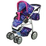 Wózek nowy dla lalek model 8 funkcyjny z nosidłem, kołderką i poduszką/9662 w sklepie internetowym super-toys.pl