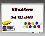 Tablica ceramiczna suchościeralna magnetyczna w ramie ALU 60x45cm w sklepie internetowym Edusfera.net