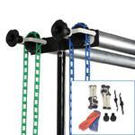 Zestaw do teł łańcuszkowy na statywy na dwa tła + dwa tła fotograficzne 1,6x5m 230cm w sklepie internetowym fotograficzneakcesoria.pl