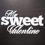 """Napis """"My sweet Valentine"""" SK667 w sklepie internetowym Sambora.pl"""