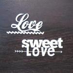 "napis ""Love sweet LOVE"" SK674 w sklepie internetowym Sambora.pl"