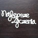 Napis najlepsze życzenia SK897 w sklepie internetowym Sambora.pl
