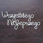 Napis wszystkiego najlepszego SK914 w sklepie internetowym Sambora.pl