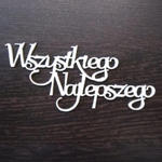 Napis wszystkiego najlepszego SK915 w sklepie internetowym Sambora.pl