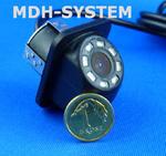 Kamera samochodowa, kamera cofania, MINIATUROWA, DZIEŃ/NOC, uniwersalna, 8 diod IR, 8IR-81603002 w sklepie internetowym Mdh-system.pl