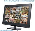"""MONITOR LCD 22"""" Z REJESTRATOREM BCS, REJESTRATOR CYFROWY CCTV CVBS 16 KANAŁÓW W MONITORZE LCD 22"""", BCS-CVR1604-22 w sklepie internetowym Mdh-system.pl"""