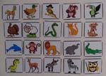 Znaczki rozpoznawcze do tablicy motywacyjnej / znaczki na szafkę zwierzątka i figury 40 szt. w sklepie internetowym pomoceterapeutyczne.com
