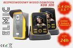 Wielofunkcyjny bezprzewodowy wideo domofon z funkcją dzwonka ELMIC KIVOS KDB300 - 2 monitory / 1 kamera - system wielomonitorowy / wielodostępowy w sklepie internetowym  elmic