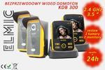 Wielofunkcyjny bezprzewodowy wideo domofon z funkcją dzwonka ELMIC KIVOS KDB300 - 2 monitory / 2 kamery - system wielomonitorowy / wielodostępowy w sklepie internetowym  elmic