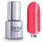 Lakier hybrydowy Summer Breeze 136 - Czerwony \ 136 Summer Breeze w sklepie internetowym em-nail.pl