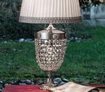 Lampka stołowa MASIERO Elegantia 6000 TL2 G Kryształki Murano - Kryształki Murano w sklepie internetowym BajkoweLampy.pl