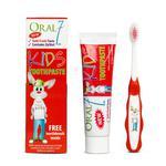 ORAL7 Kids Toothpaste 50ml + szczoteczka - pasta do zębów dla dzieci z kompleksem ochronnych enzymów + szczoteczka manualna w sklepie internetowym DomowyStomatolog.pl