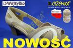WOJTYŁKO Sandały półbuty letnie czółenka 1704 Beżowe + brązowe w sklepie internetowym cizemka.pl