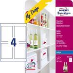 Etykiety na butelki; 90 x 120 mm, 5 ark./opak., białe; Avery Zweckform + płyta /MD4001/ w sklepie internetowym światetykiet24.pl