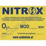 """Naklejka """"Nitrox"""" 15 x 20 cm w sklepie internetowym Diveshop"""