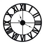 Duży czarny zegar metalowy duże cyfry styl nowoczesny retro 80cm 43-207 w sklepie internetowym Sofer.pl