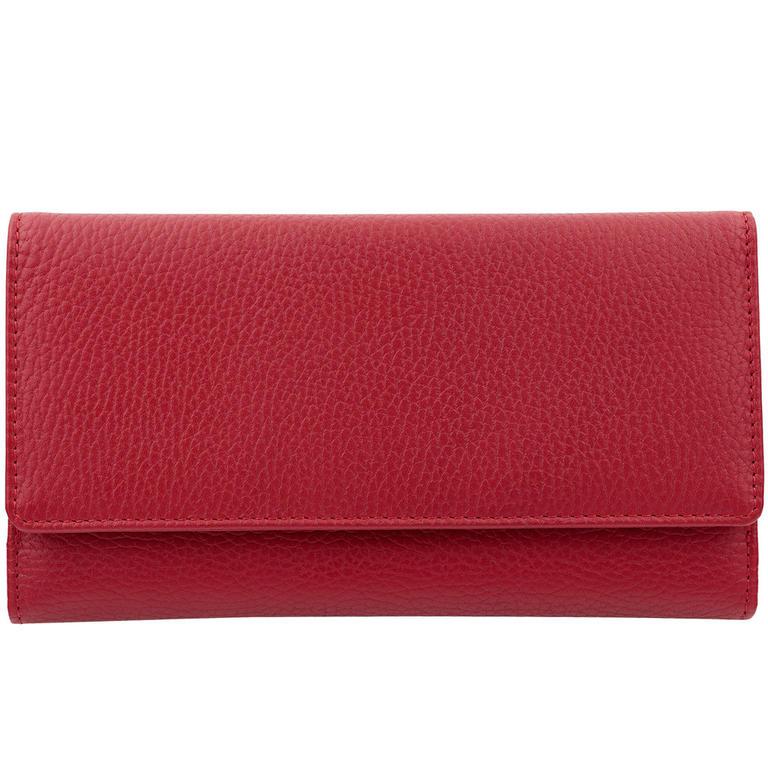 1563d7a18dce6 Damskie Portfele Zabezpieczające Zbliżeniowe Karty Kredytowe Czerwone -  Czerwony połysk w sklepie internetowym Koruma Id Protection. Powiększ  zdjęcie