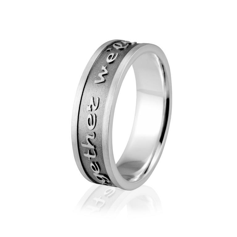 7d28ff4d77 Obrączka srebrna męska z grawerowaną sentencją - wzór Ag-159 w sklepie  internetowym Eminence. Powiększ zdjęcie