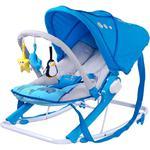 Leżaczek bujany dla niemowląt + pałąk z zabawkami + budka AQUA Caretero w sklepie internetowym Asport.pl