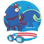 Okulary pływackie dziecięce + czepek SEA SQUAD SET blue Speedo w sklepie internetowym Asport.pl