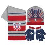 Komplet dziecięcy: czapka + rękawiczki + szalik KAPITAN AMERYKA w sklepie internetowym Asport.pl