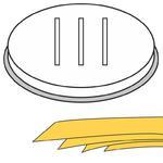 Końcówka do wyrobu makaronu PAPPARDELLE szerokie wstążki 5 otworów 16x1 mm MPF2.5/4 - Hendi 229385 w sklepie internetowym Hurtownia Przemysłowa