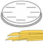 Końcówka do wyrobu makaronu FETTUCCINE płaskie wstążki 16 otworów 8x1 mm MPF2.5/4 - Hendi 229354 w sklepie internetowym Hurtownia Przemysłowa