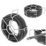 Spirala przepychacz sprężyna do rur hydrauliczna 6 x 2.45 m śr. 16 mm ZESTAW w sklepie internetowym Hurtownia Przemysłowa