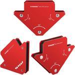 Uchwyt kątownik spawalniczy magnetyczny nośność do 11kg 45 90 135 2 szt. w sklepie internetowym Hurtownia Przemysłowa