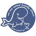 Naklejka na drzwi do lokalu słomki papierowe We Use Animal Friendly Straws 12x10cm w sklepie internetowym Hurtownia Przemysłowa