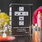 Krzyż 3D • personalizowana statuetka • Pamiątka na Chrzest, Komunię, Bierzmowanie, Prymicję w sklepie internetowym Kryształy3D.pl