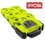 RYOBI BCS618 SZYBKA ŁADOWARKA DO 6 AKUMULATORÓW 14/18V Li-Ion/NiCd ONE PLUS - 5132000042 w sklepie internetowym Alnar.pl