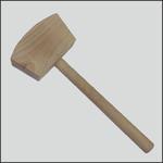 Corona młotek drewniany stolarski kwadratowy 460g C2445 w sklepie internetowym Toptools