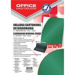 Okładki do bindowania OFFICE PRODUCTS, karton, A4, 250gsm, błyszczące, 100szt., zielone w sklepie internetowym Printermax