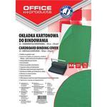 Okładki do bindowania OFFICE PRODUCTS, karton, A4, 250gsm, skóropodobne, 100szt., zielone w sklepie internetowym Printermax