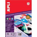 Etykiety na płyty CD/DVD APLI, średnica 114/41mm, okrągłe, białe w sklepie internetowym Printermax