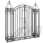 Emaga VidaXL Ozdobna brama ogrodowa z kutego żelaza, 122 x 20,5 x 134 cm w sklepie internetowym emaga.pl