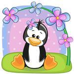 Fototapeta dla dzieci pingwinek 224a w sklepie internetowym Deco-Wall.pl