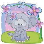 Fototapeta dla dzieci słoniątko 231a w sklepie internetowym Deco-Wall.pl