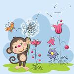 Fototapeta dla dzieci małpka 234a w sklepie internetowym Deco-Wall.pl