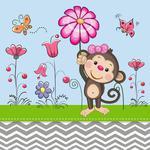 Fototapeta dla dzieci małpka 236a w sklepie internetowym Deco-Wall.pl