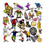naklejki kolorowe sport zestaw 10 w sklepie internetowym Deco-Wall.pl
