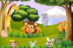 Fototapeta dla dzieci las, zwierzęta 534 w sklepie internetowym Deco-Wall.pl