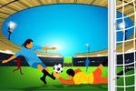 Fototapeta dla dzieci piłkarze 543 w sklepie internetowym Deco-Wall.pl