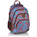 Plecak szkolny młodzieżowy Astra Head HD-115, niebieski w czerwone motyle w sklepie internetowym Portfele.net