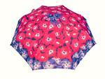 Bardzo mocna automatyczna parasolka damska marki Parasol, czerwona w kwiaty w sklepie internetowym Portfele.net