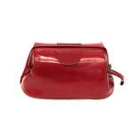 Skórzana kosmetyczka Orsatti K01C w kolorze czerwonym w sklepie internetowym ZAFIRA