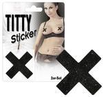 Ozdoby na piersi X czarne w sklepie internetowym Delove.pl
