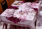 Obrus plamoodporny 85x85 Flower Krem+Róż Eurofirany w sklepie internetowym Karo.waw.pl